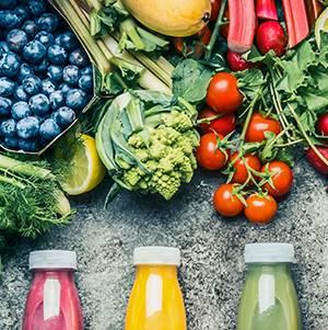 Flaschen für Gemüse- und Obstsäfte