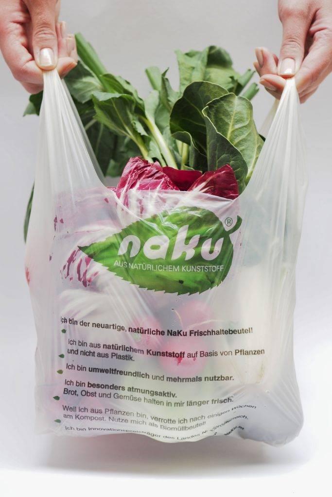 Nachhaltige Einkaufstüte zum Frischhalten