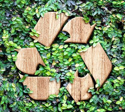 Recycling von Naturkunststoff