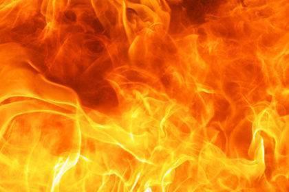 Verbrennung von Naturkunststoff