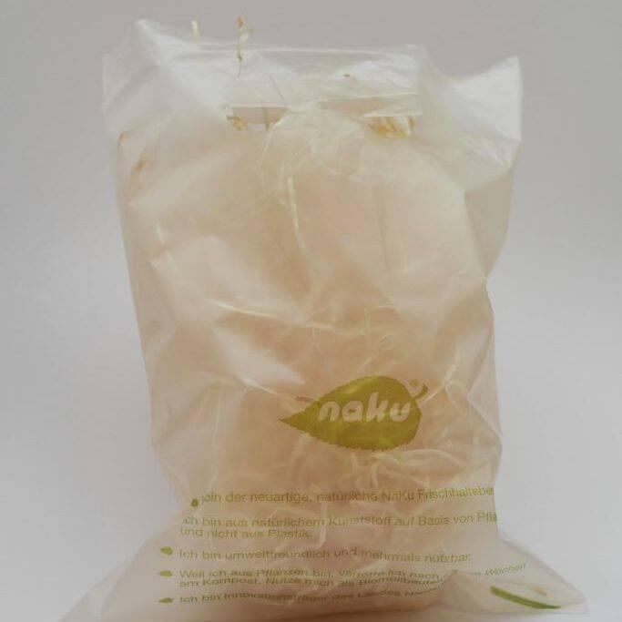 Biologisch abbaubare Grifflochtasche